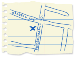 Oradell map